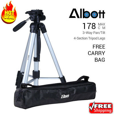 Albott 70'' Professional Digital Camera Camcorder Travel Tripod for DSLR Camera