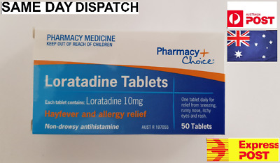 **NEW** PC Loratadine 10mg *300* 3 x 100 Tablets Same As Claratyne Hayfever