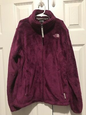 The North Face Girls L 14/16 Purple  Fuzzy Fleece Coat Jacket VGUC