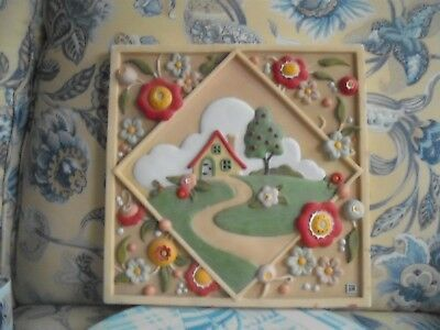 """Mary Engelbreit  Wall Plaque or Stepping Stone Large 11.5"""" Square Rare!"""