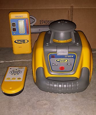 Spectra Precision  LL100N Rotary Laser Level with HR320 Receiver and remote