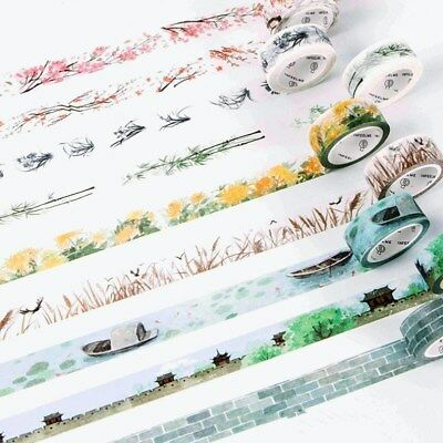 NEW Classical poetry landscape character Washi Tape decoration Lipstick cosmetic