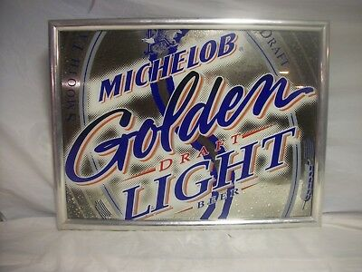 RARE Michelob Golden Draft Light Mirror sign Man Cave Bar beer , Free Shipping
