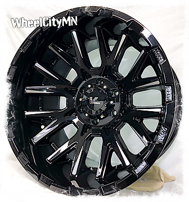 17 X9 Inch Gloss Black Milled Scorpion Sc17 Wheels Rims Ford F150