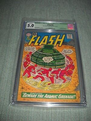 The Flash # 122 Cgc 5.0 Qualified 1961 New Case Origin & First Appearance Of Top