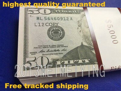 $50 Bills-$5000-Stack For Movie Video Play Prank Fake Replica Copy Prop Money