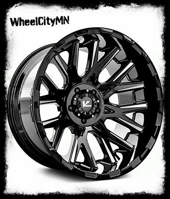 22 X12 Satin Black Vrock Vr10 Wheels Fits Lifted Ram 2500 3500 2018