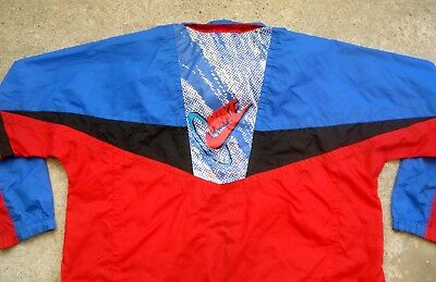 Vtg 80's NIKE Pullover Nylon Jacket Running Tracksuits Boy's XL Men's Medium