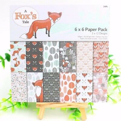 Card Making DIY Pads Art Background Paper Craft Fox Origami Scrapbooking