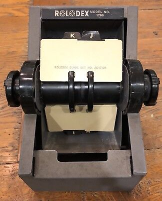 Vintage Rolodex Model 1753 Office Desk Phone Book Rotary Card File