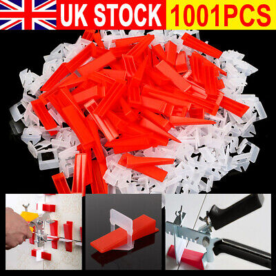 901Pcs Tile Leveling System Tool Clips & Wedges & Plier Plastic Flooring Lippage