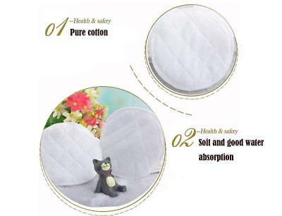 20x Organic Washable Pads Bamboo Reusable Breast Pads Nursing White NE8X
