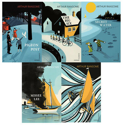 Pigeon Post Missee Lee Secret Water By Arthur Ransome 5 Books Collection Set NEW