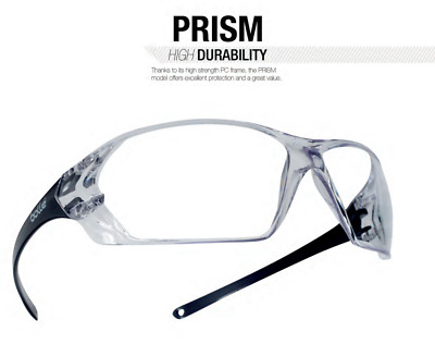 46a4b188b5 Bolle 40057 Prism Safety Glasses with Black Frame and Clear Anti-Fog Lens