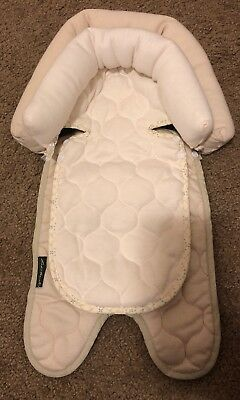 Eddie Bauer Baby 2-in-1 Head Support for Car Seats, Strollers, Swings Tan Cream