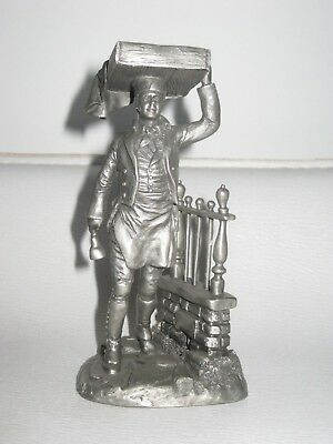 THE MUFFIN MAN -  Fine Pewter Figurine JP 1977