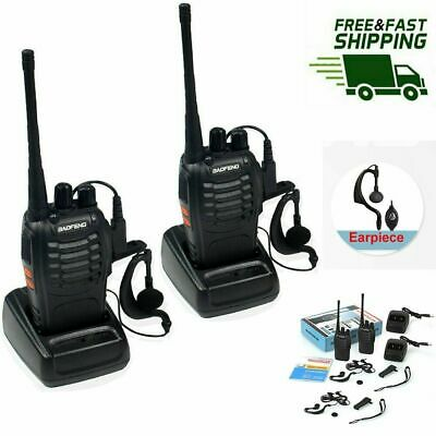 4x Portable Walkie Talkie UHF 400-470MHz 16CH BF-888S Two-Way Radio Long Range