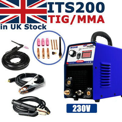ITS200 2IN1 Interver IGBT DC TIG/MMA Welding Welder Machine & Consumable 230v