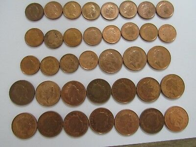 Lot of 37 Different Current Great Britain Coins - 1992 to 2010 - Circulated & BU