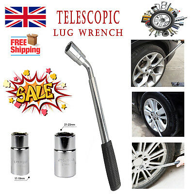 Spare Tire Tool Telescopic Lug Wrench Set 4 Sizes Wheel Brace(17/19MM) (21/23MM)