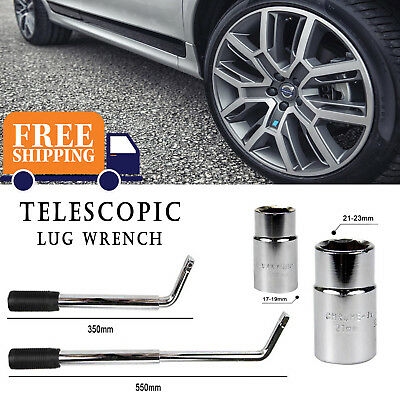 Spare Tire Tool Telescopic Lug Wrench Set 4 Sizes Wheel Brace17/19MM & 21/23MM