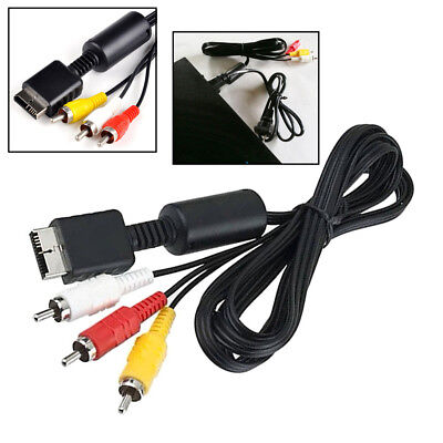 1.8M AV Cable Composite Audio Video RCA Cord For Sony PS PS2 PS3 PlayStation