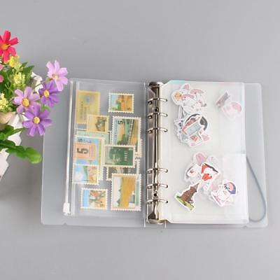 Transparent 6-hole Loose-leaf Notebook Planner Cover Shell Stationery Accessory