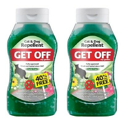 2 x Get Off My Garden Cat and Dog Repellent Outdoor Scatter Crystals 450g 2 Pack