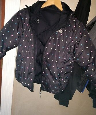 girls north face jacket size medium double sided