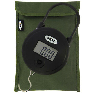 NGT Carp Coarse Fishing Digital 55lb / 25kg Weighing Scales with Storage Pouch