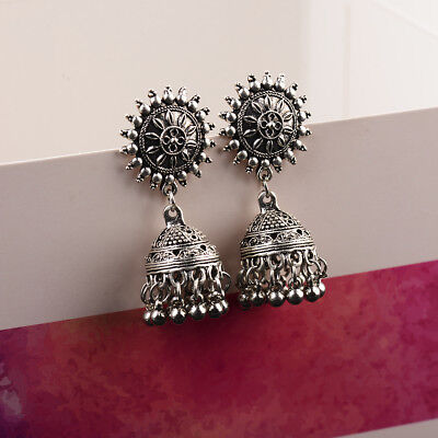 New  Vintage Bohemia Carved Tassel Ethnic Dangle Gypsy Earrings Indian Jewelry