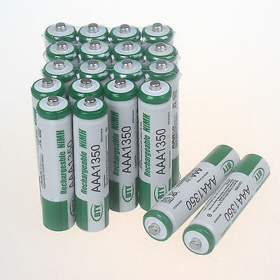20 x AAA 1350mAh Rechargeable 1.2V NiMh BTY R3 R03 LR3 LR03 Batterie BTY Battery