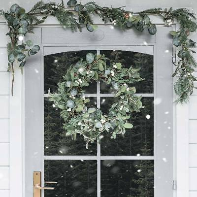 Outdoor Christmas Mistletoe Wreath Garland | Door Fireplace Mantel Garden Decor