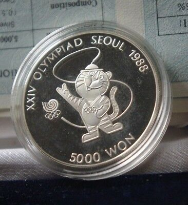 Seoul Olympic 1988 Proof Silver Coins Set consisting of 2 coins