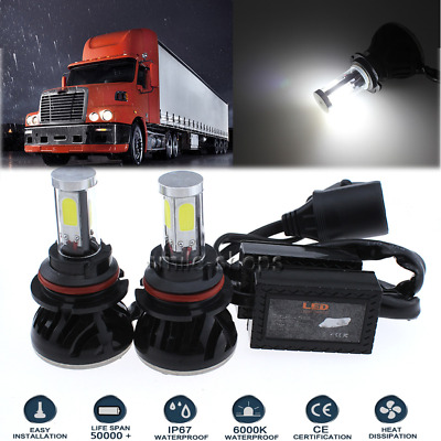 9007 HB5 120W LED Headlight Bulbs Kit For 2003-2012 International 8600 Series