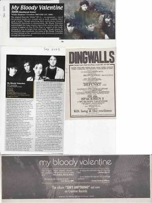 MY BLOODY VALENTINE : CUTTINGS COLLECTION -adverts-