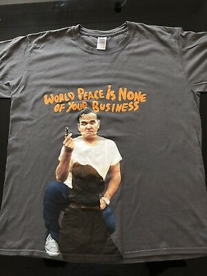Morrissey 'World Peace Is None Of Your Business' Official Tour T Shirt XL