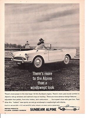 1961 Sunbeam Alpine ~ Original Canadian Print Ad