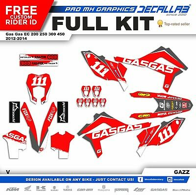 GAS GAS EC 2012 2013 2014 Super MX Graphics Decals Stickers Decallab