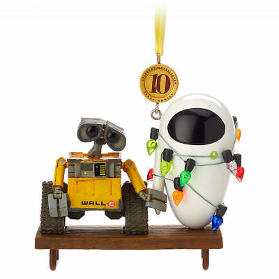 Disney Limited WALL E and EVE. Legacy Sketchbook Christmas Ornament Figurine