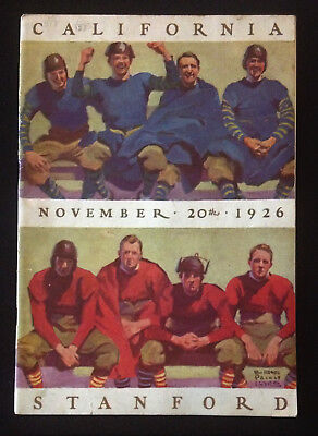 University of California Football Program Nov 20 1926 Stanford