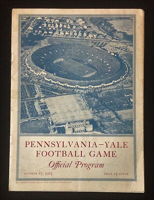 Pennsylvania Yale Football Game Program Oct 17 1925