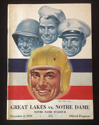 University of Notre Dame Football Program Dec 2 1944 Great Lakes