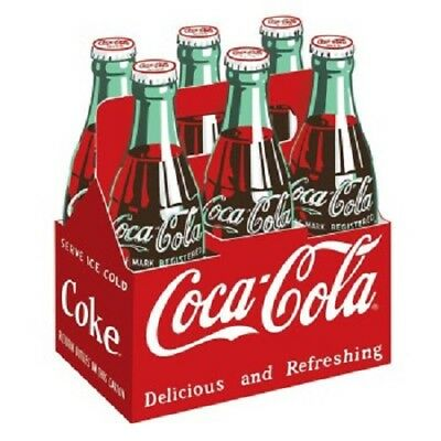 Vintage Style Die Cut Coca Cola Bottle Carton Signs Country Store Advertising