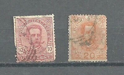 2 - ITALY: 1879 KING - 10/20c... Used Stamp