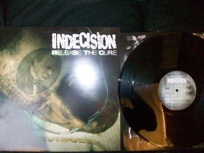 """Indecision """"Release The Cure"""" LP 1999 US/HC France-Press, Overcome Records 004"""