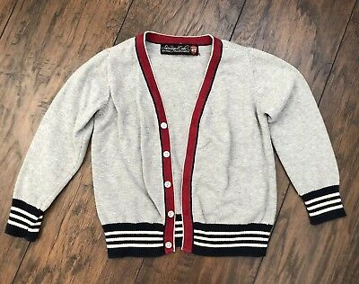 Boys Sovereign Code Cardigan Button Up Sweater 4t Gray