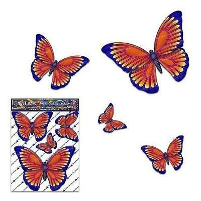 Schmetterling Orange D1 Kleintier Pack Auto Aufkleber - ST00025OR_SML - JAS