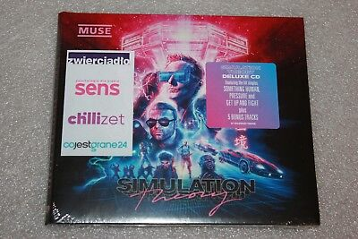Muse - Simulation Theory CD  Deluxe Edition POLISH STICKERS NEW SEALED