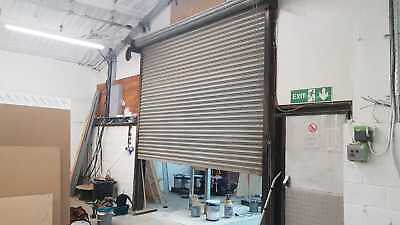 Electric Security Roller Shutter - 3.5m x 3.5m (approx) 3 phase motor (2)